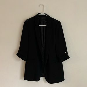 Zara black women blazer- rolled sleeves